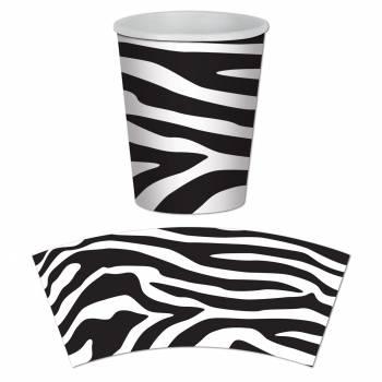 8 Gobelets Zebra