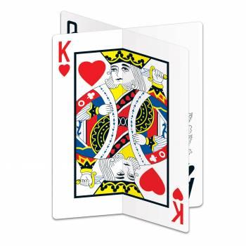 Centre de table cartes à jouer