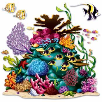 Décor mural Récif de corail plastifié