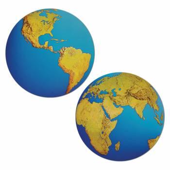 Planète terre en carton