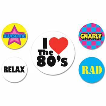 5 Badges années 80