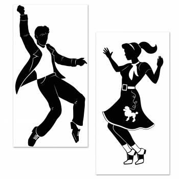 Silhouette danseurs Rock n'roll