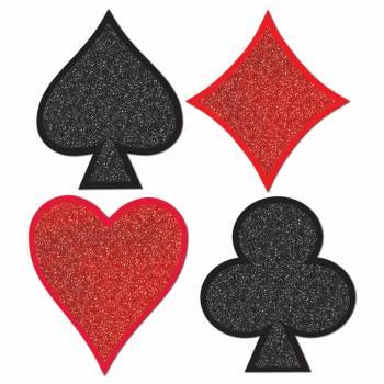 Lot 4 décors pailletés Casino