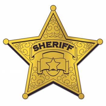 Pancarte étoile de shériff