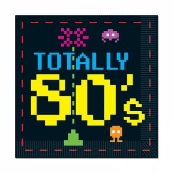 16 Serviettes Vidéo 80's