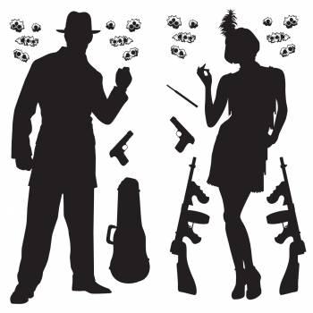 Décors muraux couple de gangster