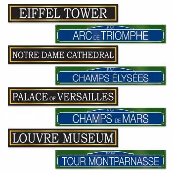 4 Pancartes rue et monuments parisien