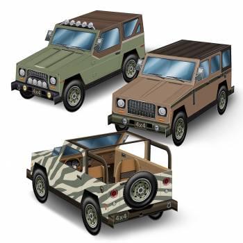 Lot 3 véhicules Safari cartonnés