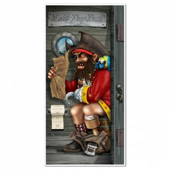 Décor porte de wc pirate