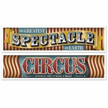 2 Banderoles vintage circus