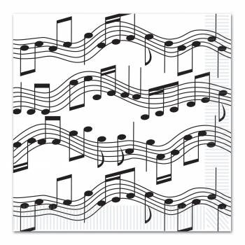 16 Serviettes Musique