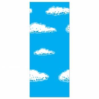 Toile murale plastifiée fond Ciel/nuages thème jeux Vidéo