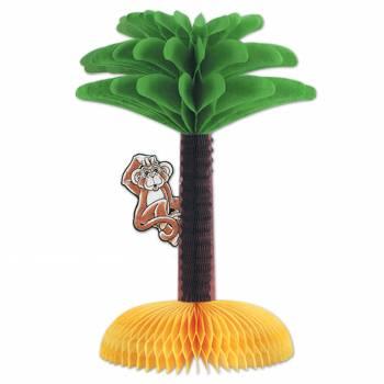 Centre de table palmier avec singe