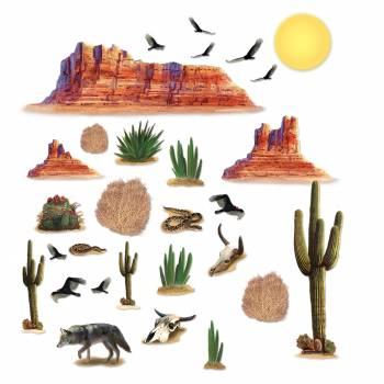 29 Décors western désert