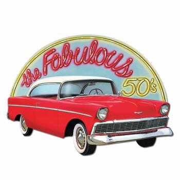 Pancarte géante Cadillac fabulous 50's