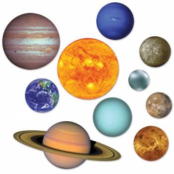10 Planètes système solaire en carton