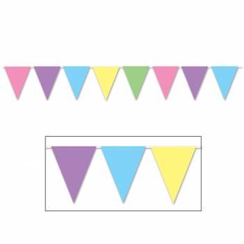 Fanions à suspendre pastel
