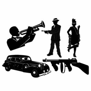 Décors gangster + musicien + voiture
