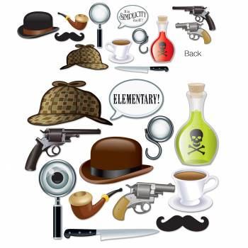 12 décors Sherlock holmes photobooth