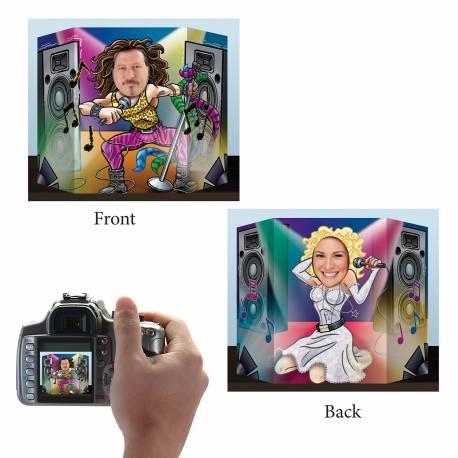 D/écor pour photo Cartes de jeux 94 x 64 cm