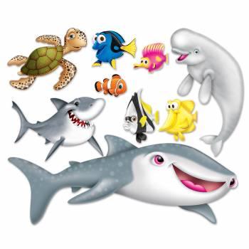 Décor mural de 9 créatures des mers