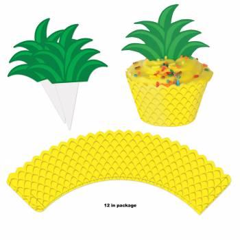 12 Wraps cupcakes Ananas