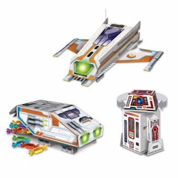 3 Boîtes cadeaux vaisseaux spatial