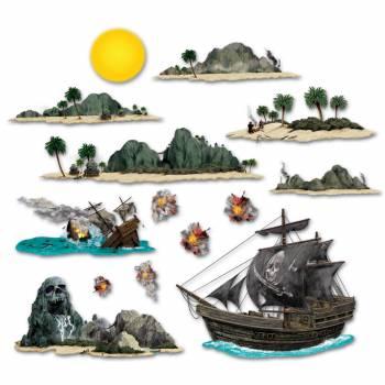 Décors muraux Iles de Pirates
