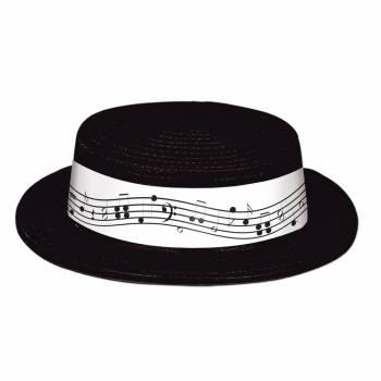 Canotier noir Note de musique