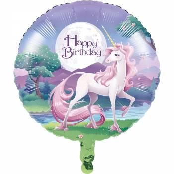 Ballon hélium Licorne Fantaisy