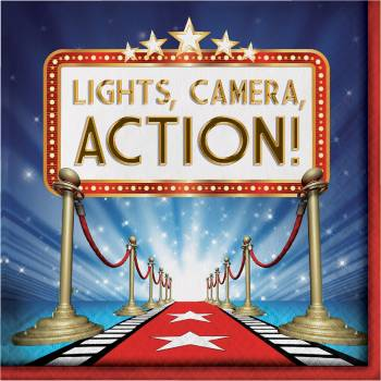 16 serviettes light camera action