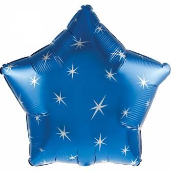 Ballon hélium étoile bleu