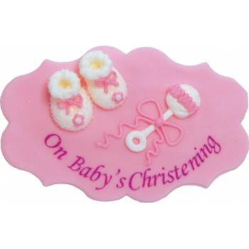 plaque en sucre baby girl
