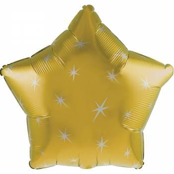 Ballon hélium étoile or