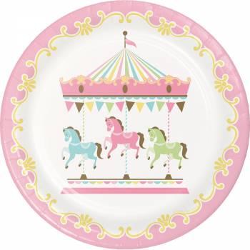 Assiettes carroussel - Deco Anniversaire.fr