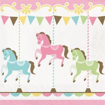 Serviettes carrousel - Deco Anniversaire.frl