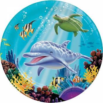 Lot 8 Assiettes Sous l'océan