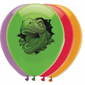 6 ballons latex dinosaure