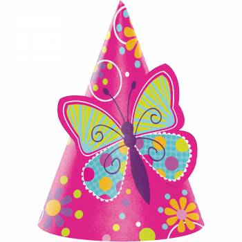 Chapeau de fête papillons