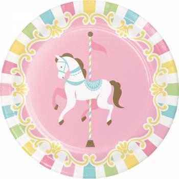 Petites assiettes carrousel - Deco Anniversaire.fr