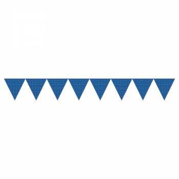 Fanions à suspendre polka bleu