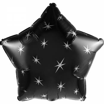 Ballon hélium étoile noire