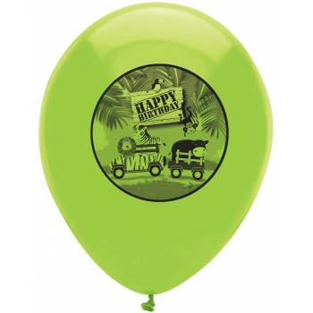 Lot 6 Ballons Safarie en latex