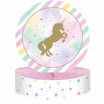 Centre table licorne d'or