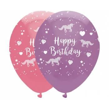 6 Ballons latex licorne