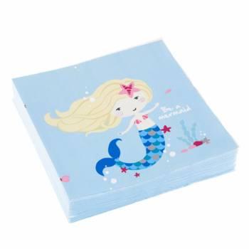 20 Serviettes Be a mermaid