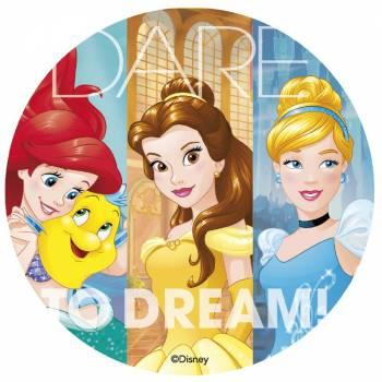 Photo comestible Princesses Disney 20 cm