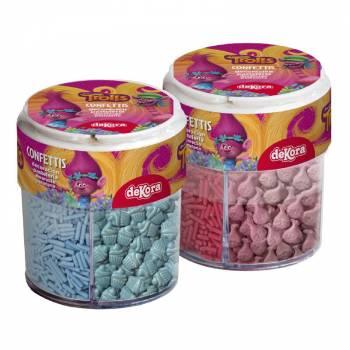 Boite distributrice Confettis multiples Trolls