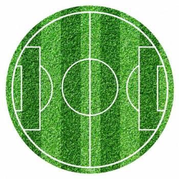 Disque en sucre terrain de football 20cm