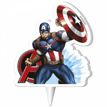 Bougie 2D Captain America